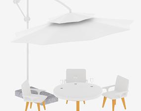3D model Patio Table and Patio Umbrella