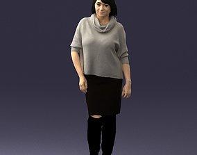 Woman in long boots 0618 3D print model