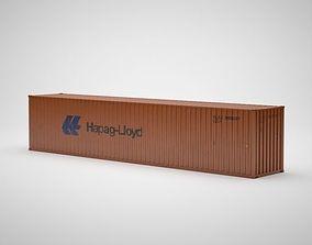 Cargo Container - HAPAG LLOYD - Contenedor de carga 3D