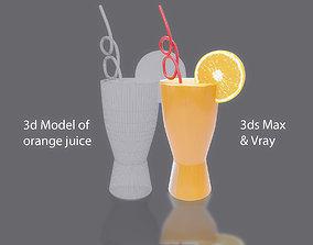 3D model Orange juice