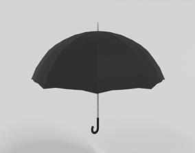 Low Polt Cartoon Umbrella 3D model