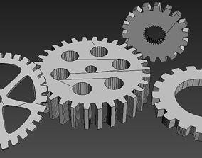 Rotary wheels 3D model