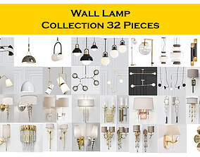 3D Wall Lamp Collection 32 Pieces