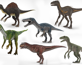 6 Dinosaurs Models rigged