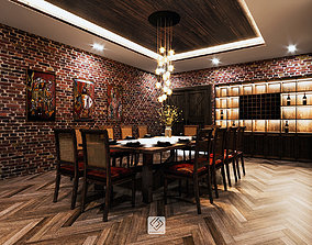 3D Restaurant diningroom tropical