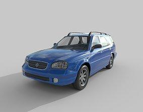 Low Poly Car - Suzuki Baleno Kombi 1999 3D asset
