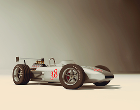 Race Car old style 3D