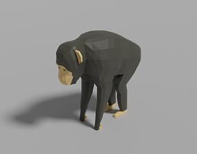Cartoon Chimpanzee 3D asset