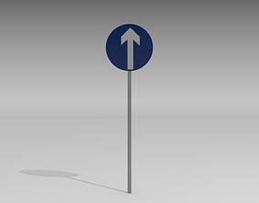 3D Go straight sign