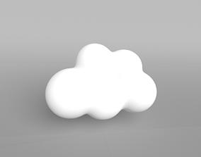 3D model Low Poly Cloud 001