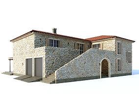 Mediterranean style villa 3D