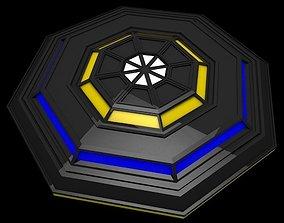 UFO Low Poly 3D asset