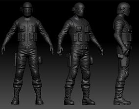 3D High Poly Soldier