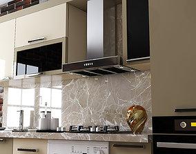 Yellow Kitchen Furniture Design Atash 3D model