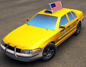 3D asset American Taxi