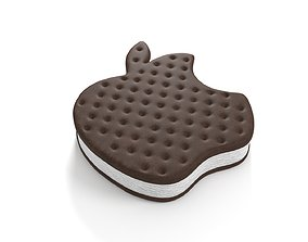 Apple Logo Ice Cream Sandwich 3D model
