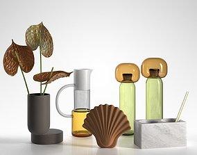 3D Anthurium Vases Jug and Pencil Holder