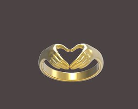 3D print model ring hand jewel