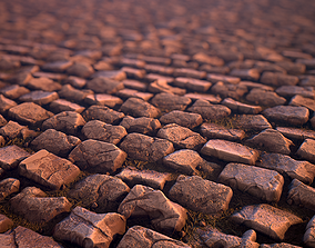 rock 3D model Cobblestone - Substance Designer