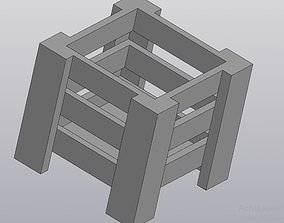 3D print model Flowerpot Planter box