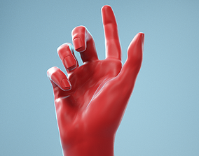 3D Index Out Realistic Hand Model 07