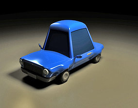 3D model AS Cartoon Car Rigged for Maya cartoon