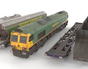 3D asset Train Pack low poly