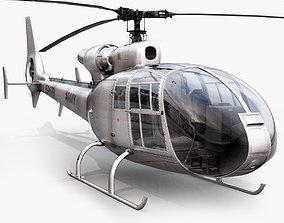 Aerospatiale SA Gazelle Silver 3D model