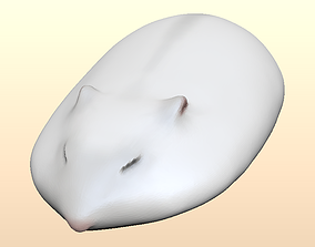 3D printable model Flat hamster sleeping on hand