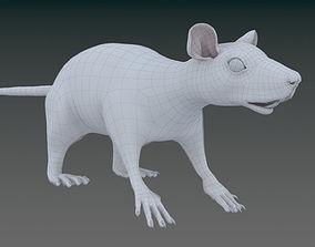 laboratory 3D model White or Brown Rat