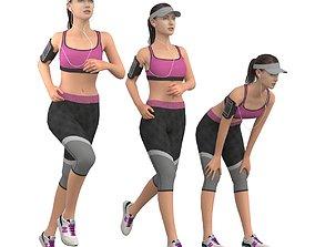 Running girl 3D model