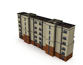3D asset Asian Architecture Residential building 02