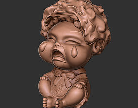 Crying Doll Desk Toy 3D print model