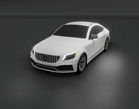 low-poly Mercedes c63 AMG coupe 2020 low poly 3D model