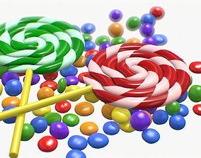 Candy Lollipop 3D model