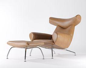 Erik Jorgensen - Wegner Ox Chair 3D model