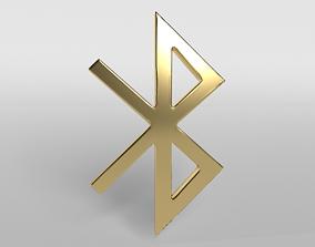 3D model Bluetooth Symbol v1 004