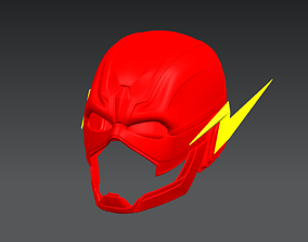 The Flash Cosplay Helmet 3D model Ready to Print