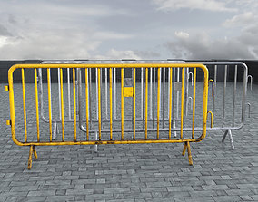 Road Safety Barrier 3D model game-ready