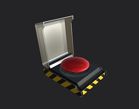 3D model Clean Red button PBR