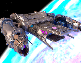 Sci-fi Battle Spaceship Essenor-Rigged 3D asset