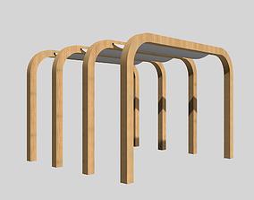 3D model Wood patio sunshade