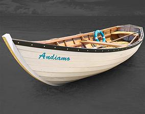 boat fishing wood 3D model