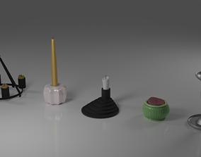 5 modern candlesticks from IKEA 3D model