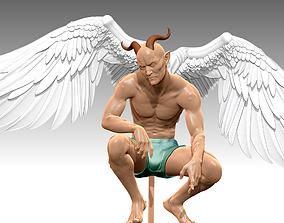 DEMONS Man Wings N001 sculpture 3D print 3D model