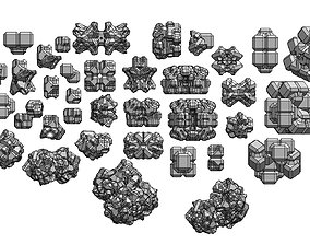 Geometrical space debris and asteroids 3D printable model