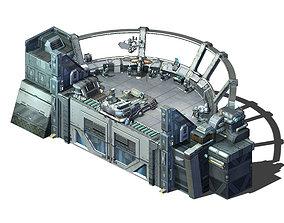 3D model Spaceship - indoor - console church