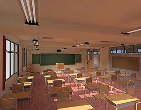 3D model Anime Classroom