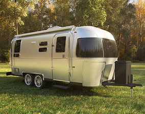 3D model Airstream Flying Cloud trailer 2017