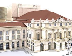 3D model La Scala Theater - exterior